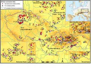 Quaternary Czech Molusc Database_Map
